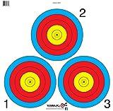 3 spot vegas target - 3 Spot Archery Target Face (50pk)