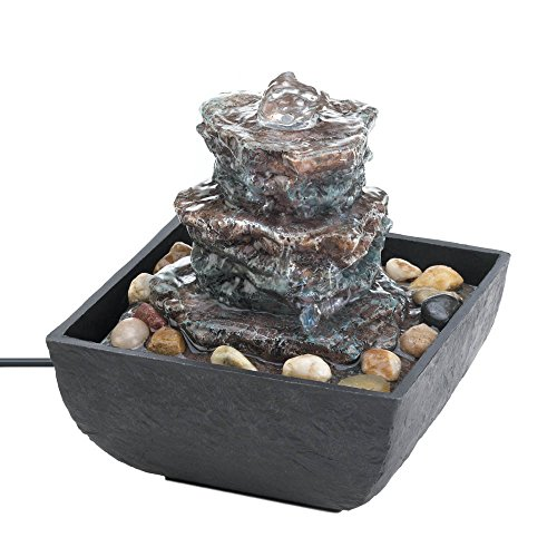 Fountains Indoor, Tiered Water Fountains Tabletop, Polyresin ()
