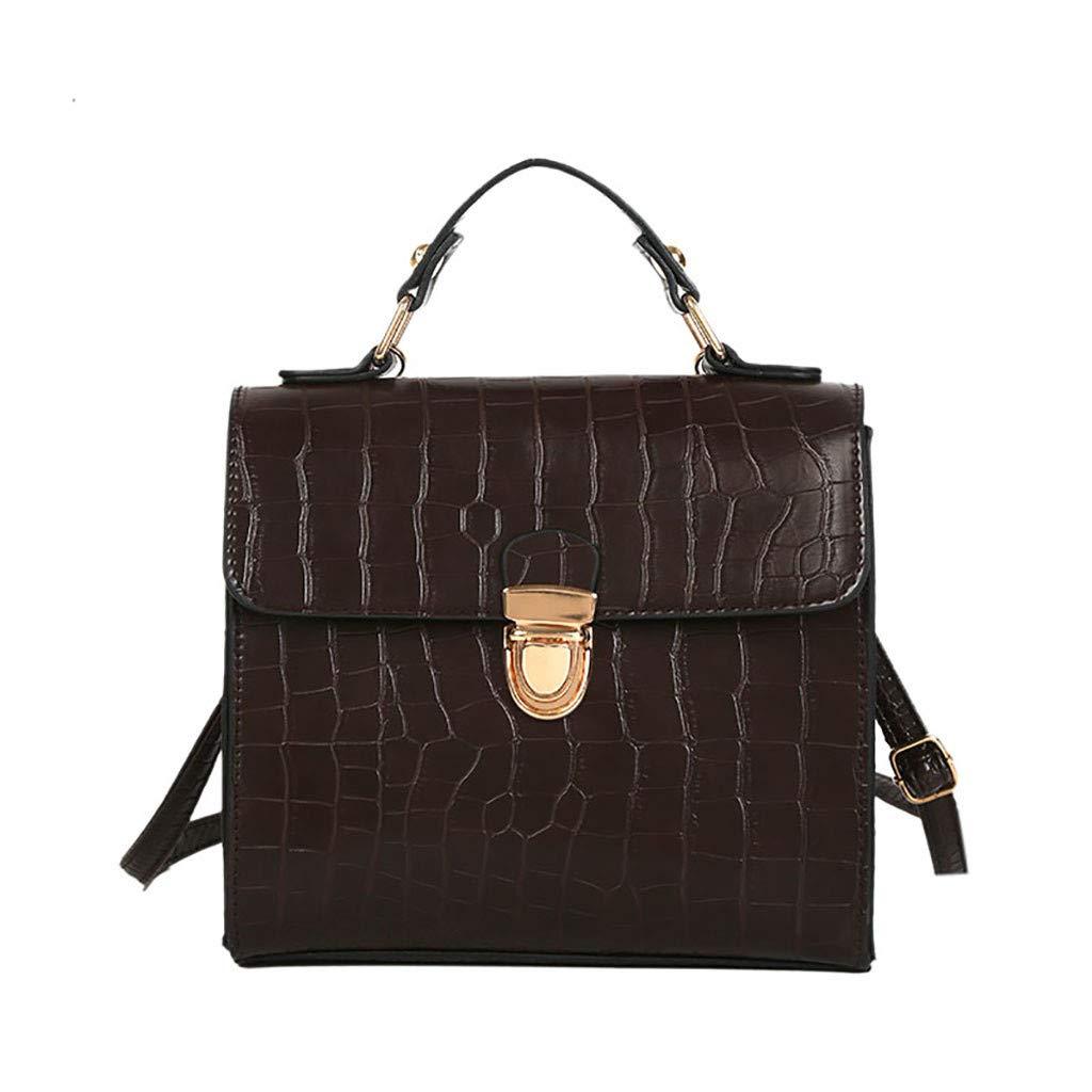 HEETEY Damen Handtasche Frauen-Weinlese-Krokodil-Muster-Tasche Wilde Umhängetasche Messenger Bag Crossbody Bag mit Kette Schulterriemen