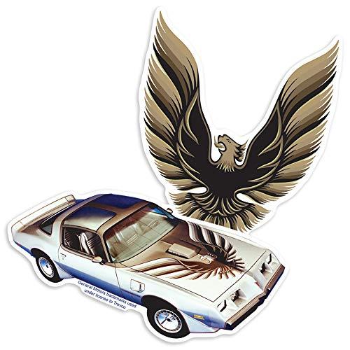 Pontiac Firebird and Emblem Collectible Stickers