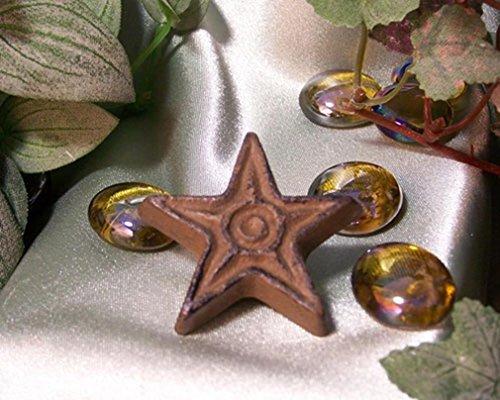 - Cast Iron Rust Star Drawer Pull - Set of 12