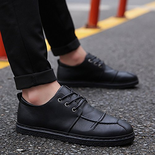Men's Shoes Feifei Spring and Autumn Leisure Fashion Plate Shoes 3 Colors (Size Multiple Choice) Black cSRpX