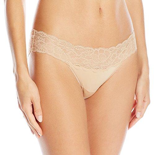 Calvin Klein Microfiber Panties - Calvin Klein Women's Seductive Comfort Bikini Panty, Bare, Medium