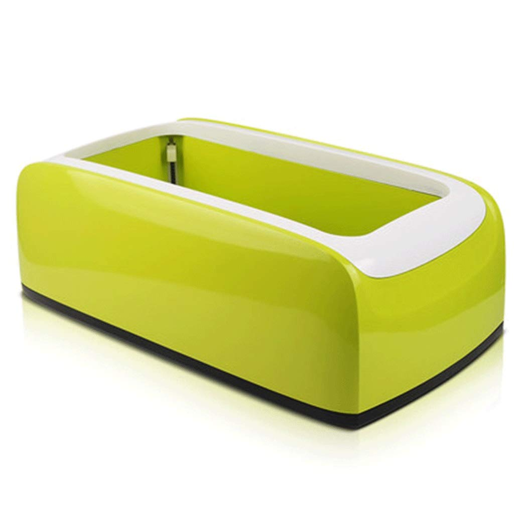 Yongyong Automatic Shoe Cover Machine Home Office Room Disposable Foot Cover Machine Environmental Protection ABS to Send 200 Shoe Covers 402215cm (Color : Green, Size : 402215cm)