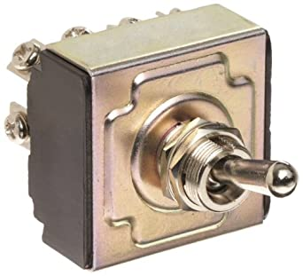 """Morris Products 70304 Toggle Switches, 4 Pole,  On/Off, 1.44"""" Width, 1.31"""" Length, 0.80"""" Height"""
