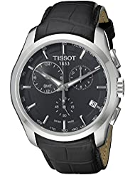 Tissot Mens T0354391605100 T-Trend Couturier Analog Display Swiss Quartz Black Watch