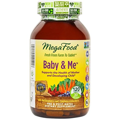 MegaFood Baby & Me, Prenatal & Postnatal Support for Mother & Baby, 120 Tablets