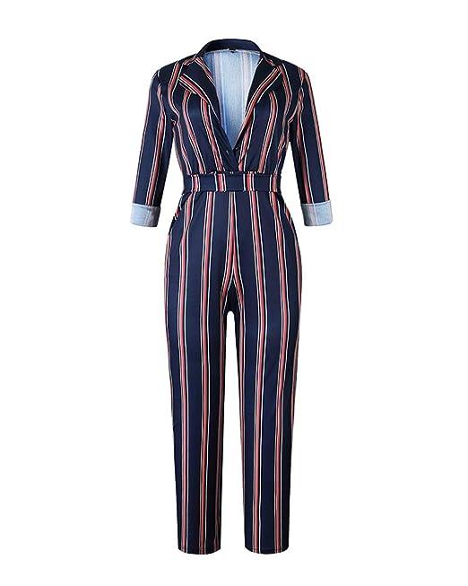 12abccd254bf ShiFan Donna Jumpsuit Pantaloni Lunghi Playsuit Tuta Eleganti V Collo Lunghi  Manica Tute da Cerimonia Festa Cocktail con Cintura: Amazon.it:  Abbigliamento