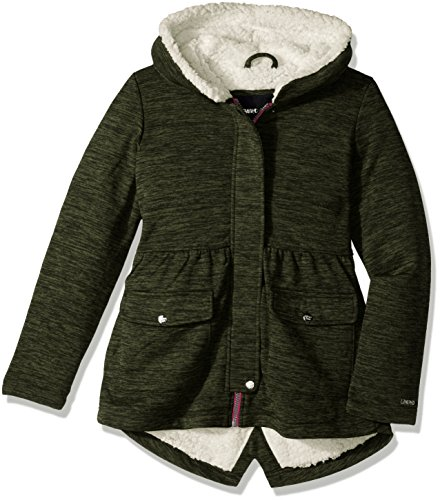Limited Too Toddler Girls' Too Space Dyed Fleece Anorak W/Sherpa Lining, Olive, ()