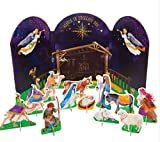 My Pop-Out Nativity 12 Piece Children's Christmas Activity Set
