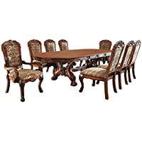 247SHOPATHOME Idf-3557T-9PC Dining-Room-Sets, Brown