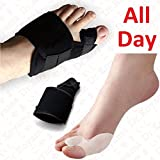 Dr.Koyama 2 Sets Rapid Bunion Pain Treatment Night Time Bunion Orthopedic Splints+Bunion Corrector Toe Spacer Hallux Valgus Bunion Pads Large
