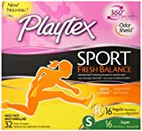Health & Personal Care : Playtex Sport Fresh Balance Tampons with Odor Shield Technology, Regular and Super Multi-Pack, Scented - 32 Count