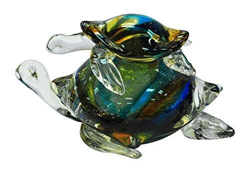 Blue Turtle Accent Lamp (Dale Tiffany AS14072 Colorful Sea Turtle Figurine)