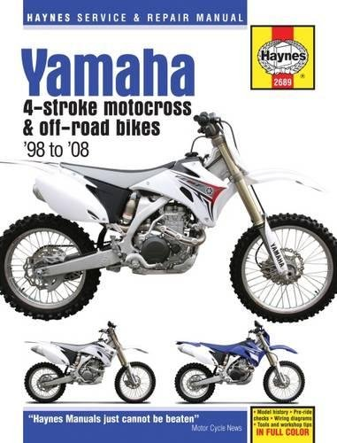 - Yamaha YZ & WR 4-Stroke Motocross & Off-road Bikes, '98 to'08 (Haynes Service & Repair Manual)