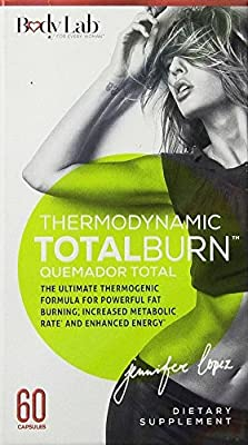 Body Lab 7 Thermogenic Total Burn, 60 Count (4 Pack)