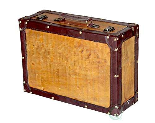 Quickway Imports Old Vintage Suitcase Medium by Quickway Imports