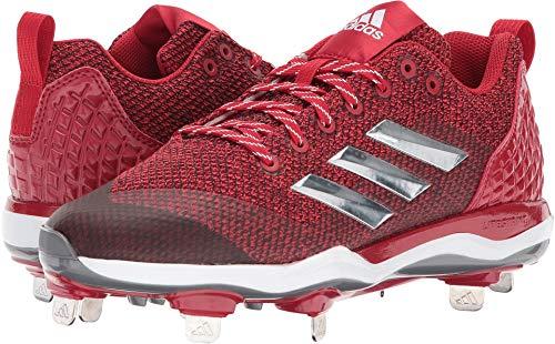 adidas Men's Freak X Carbon Mid Softball Shoe, Power RED/Metallic Silver/White, 8.5 Medium US