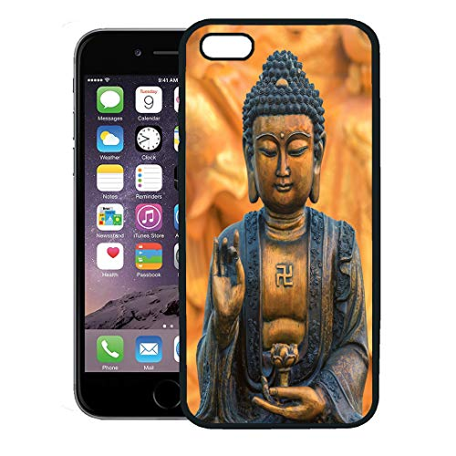 - Semtomn Phone Case for iPhone 8 Plus case,Face Buddha Statue As Amulets of Buddhism Religion Buddah China Tibet iPhone 7 Plus case Cover,Black