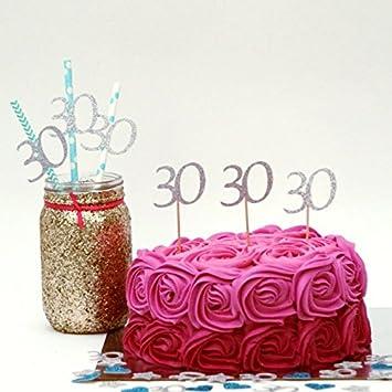 Lissielou 30 Cupcake Topper 30 Geburtstag Party Kuchen Topper