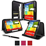 Galaxy Tab Pro 10.1 Case, rooCASE Executive Portfolio Leather Case Cover for Samsung Galaxy Tab Pro / Note 10.1 2014 ed, Black (With Auto Wake / Sleep Cover)