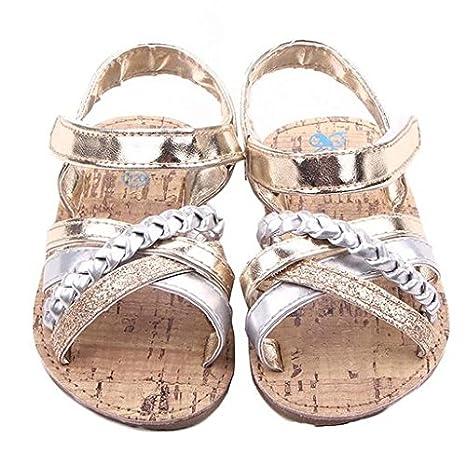 1328cb31f3344 Amazon.com : Morrivoe Summer Fashion Girls Woven Belt Strap Sandals ...