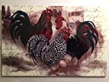 "Decorative Ceramic Wall Art Tile ""Roosters Trio"" (F62) 8″x12″ with a hook in the back. Review"
