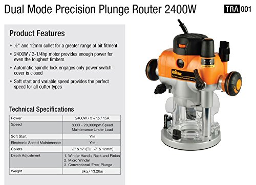 Triton tra001 3 14 hp dual mode precision plunge router home triton tra001 keyboard keysfo Image collections