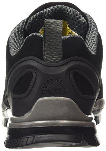 nbsp;léger À Gris Cuir Dessus Noir Sécurité Chaussures En Gr86 De Homme Embout Lacets Acier UBngOg