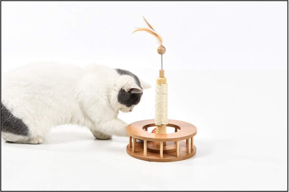 autentico IW.HLMF Legno Legno Legno sisal Cat Tipo Diverdeente Giocattolo Gatto Scratch Board Artiglio Pet Giocattolo Gatto Arrampicata Telaio  presa