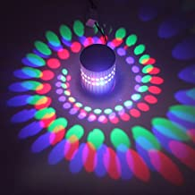 Konesky 3W RGB LED Spiral Wall Lamp, Remote Control Dimmable Art Deco Ceiling Hallway Porch Bar Clubs Party Decoration Light