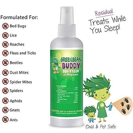 Amazon Com Green Bean Buddy Residual Bug Killer 3oz Treats Bed