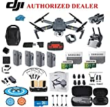 DJI Mavic Pro Drone Quadcopter Fly More Combo with 4 Batteries, 4K Professional Camera Gimbal Bundle Kit, 2-64GB SD Cards, Range Extender, Landing Pad, Must Have Accessories