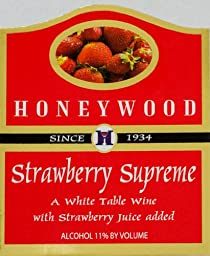 NV Honeywood Winery Strawberry Supreme Fruit Wine 750 mL