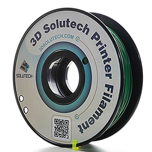 3D Solutech Real Green 3D Printer PLA Filament 1.75MM Filament, Dimensional Accuracy +/- 0.03 mm, 2.2 LBS (1.0KG) - 100% USA by 3D Solutech