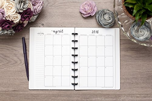 2019 Monthly Calendar for Disc-Bound Planners, Fits Circa Junior, Arc by Staples, Half Letter Size 5.5''x8.5'' by Natalie Rebecca Design