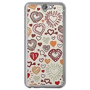 Loud Universe HTC One A9 Love Valentine Printing Files Valentine 15 Printed Transparent Edge Case - Multi Color