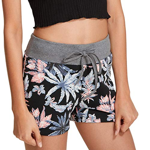 DONTAL Ladies Sexy Design Casual Printed Shorts Sports Shorts Mini Shorts Pants Combat Trousers Gray