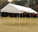 Snail 10 x 20-Feet Outdoor Waterproof Carport Canopy UV Protected Portable Shelter Canopy Party Wedding Tent with Anchor Kit, White
