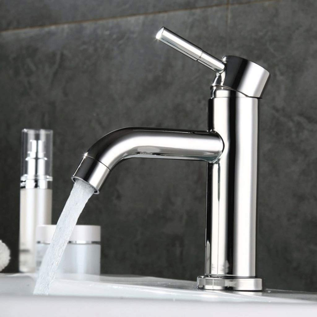 Qkefegfkgr 304 Stainless Steel Mirror Basin Mixer, hot and Cold Mirror Basin Mixer, Stainless, Antibacterial (Integral Forming) (Color : -, Size : -) by Qkefegfkgr (Image #2)