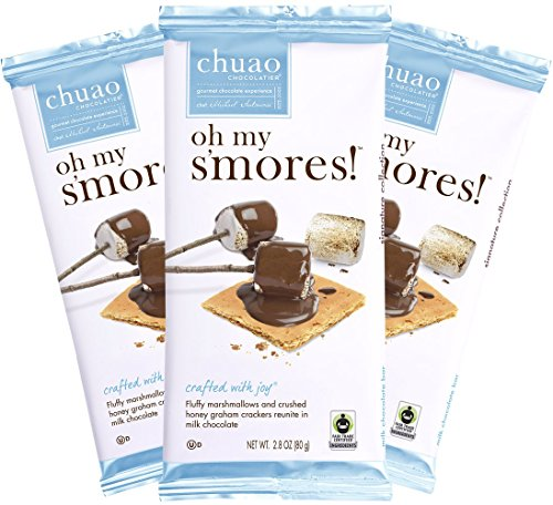 Chocolate Bars - Chuao Chocolatier Oh My S'mores Chocolate Bars 3pk (2.8 oz bars) - Best-Selling Chocolate Pack - Gourmet Artisan Milk Chocolate - Free of Artificial Flavors