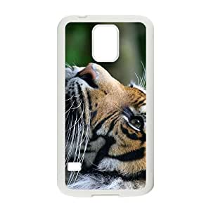 The Sticking Tongue Out Tiger Hight Quality Plastic Case for Samsung Galaxy S5