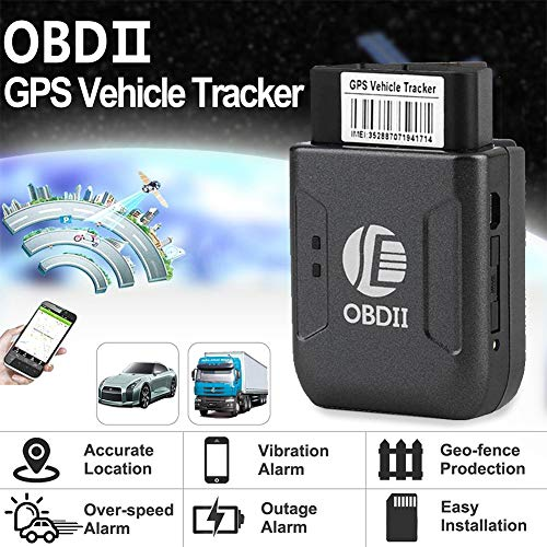 elegantstunning OBD II GPS Realtime Tracker Car Truck Vehicle Mini Tracking  Device GSM GPRS (Black)