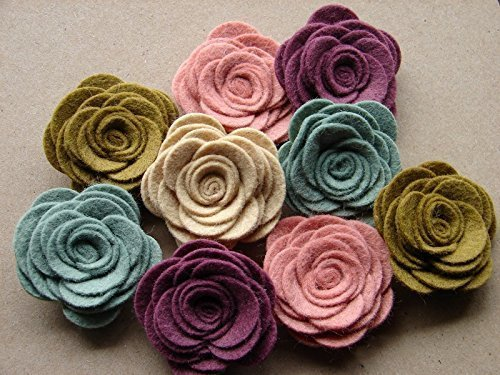 Cottage Collection Felt Flowers Large Posies