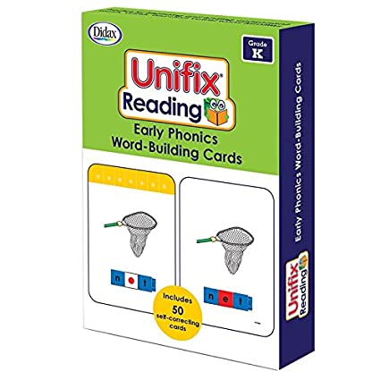 Didax Unifix Reading: Early Phonics Word-Building Cards, Multicolor