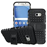 Galaxy A5 2017 Case, OEAGO Samsung Galaxy A5 2017 Case [Shockproof] [Impact Protection] Tough Rugged Dual Layer Protective Case with Kickstand for Samsung Galaxy A5 2017 - Black