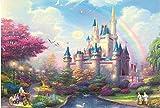 1000 piece puzzles disney castle - 1000 piece Jigsaw Puzzle for Adults - Beautiful Castle - Magic Puzzles Jigsaw Puzzle Toys for Home Decoration