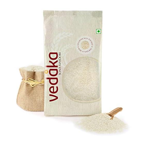 Amazon Brand - Vedaka Sona Masuri Raw Rice, 10Kg, White