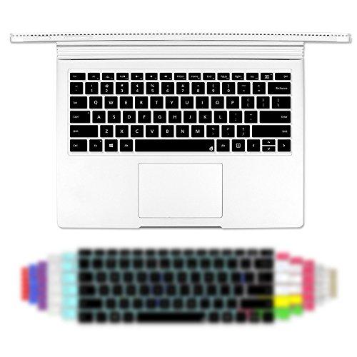 Masino Silicone Keyboard Cover Ultra Thin Keyboard Skin for Microsoft Surface Book (Silicon Keyboard Skin-Black)