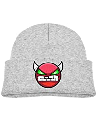 Kids Hats Hedging Geometry Dash Lite Winter Warm Classic Knitted Cap Soft Beanies